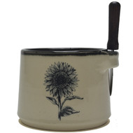 Dip Bowl with Spreader Knife - Sunflower
