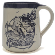 Coffee Mug - Anchor and Stormy Seas