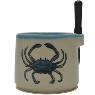 Dip Bowl with Spreader Knife - Crab