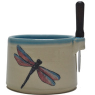 Dip Bowl with Spreader Knife - Dragonfly