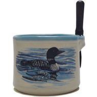 Dip Bowl with Spreader Knife - Loon