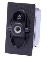 switch, marine, auto, rocker, on-off, single pole, sealed, Carling, V Series, one lamp, lit switch, LED, V1D1AX0B, blue led,