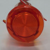 indicator light, 14 volt, wings, amber, LED, wire leads, semi dome rings lens