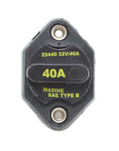 cooper bussmann, circuit breaker, 40 amps, ignition protected, 32 vdc, manual reset, type 3, 25440