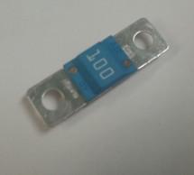 Cooper Bussmann 100 amp bolt in fuse, Eaton, blue housing, 32 vdc, BK/AMI-100