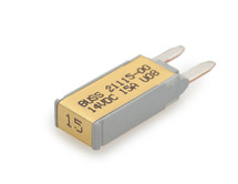 21115-00 Cooper Bussmann Type 1 mini circuit breaker, auto reset, 15 amps, 14 vdc