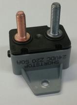 50 amps, circuit breaker, short stop, cooper bussmann, plastic cover, bracket, stud terminals, type 3, manual reset, 123a50-a1p