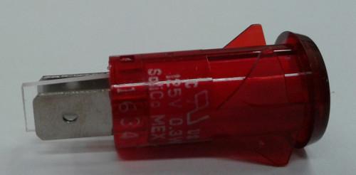 3150-4-00-57610 Solico 125 volt Neon Red Round Indicator Light