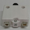 """mechanical products, 20 amp, push to reset circuit breaker, 3/8"""" inch bushing, black button, #8-32 screw terminal,  1680-219-200"""