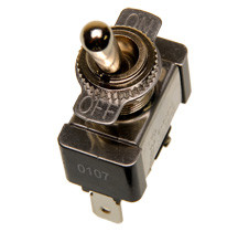 single pole on-off toggle switch, quick connect terminals