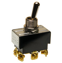 Double pole on-on toggle switch, screw terminals