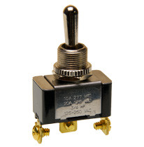 Single Pole momentary toggle switch, two momentary positions, spring return to center