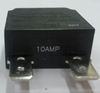 mechanical products 10 amp push to reset circuit breaker, black button, quick connect terminals, 1480-303-100