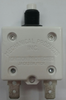 """Mechanical Products, 25 amp, push to reset breaker, 3/8""""-27 bushing, quick connects, amp stamp, 1680-037-250"""
