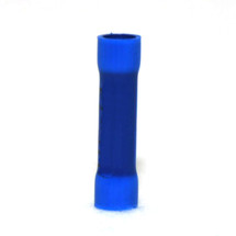 butt connector terminal, blue, vinyl insulated, 16-14 awg