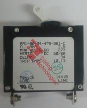 Carling Technologies Circuit breaker, 7.5 amp, A Series, single pole, magnetic AA1-B0-34-475-3B1-C