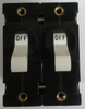 Carling Technologies Circuit breaker, 30 amp, A Series, double pole, magnetic, quick connect terminals AA2-B0-26-630-1B1-C