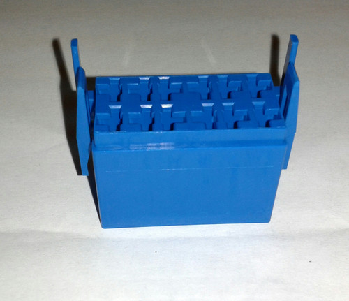 Carling L Series Connector Housing for rocker switch, Blue, LC1-06