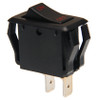 appliance style rocker switch, single pole, on off, maintained, On-Off legend, black and red