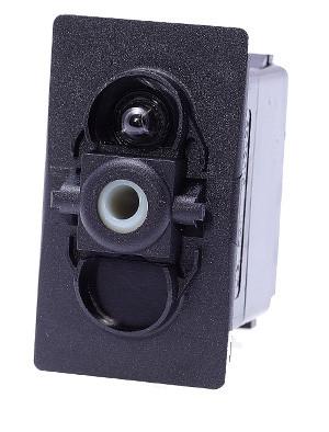 switch, marine, auto, rocker, on-off, single pole, sealed, Carling, V Series, one lamp, lit switch, V1D1B60B