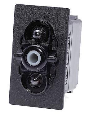 switch, marine, auto, rocker, on-off, single pole, sealed, Carling, V Series, two lamps, lit switch, V1D1J66B, RCV-00010990