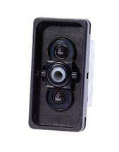 switch, marine, auto, rocker, double momentary, single pole, sealed, Carling, V Series, 2 independent lamps, raised bracket, V8D2U661