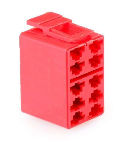Connector Housing, V Series Rocker, 10 Terminal base, Red, Carling, Contura