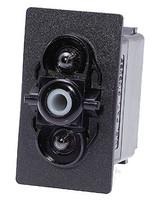 Carling V series rocker switch, progressive circuit, single pole, Circuit 1 & 2 ON, Circuit 1 ON-OFF, 1 Ind & 1 Dep Lamp, VGDKG66B