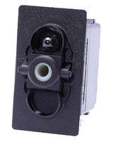 Carling V series sptt, three on positions, one lamp, illuminated rocker switch, vsd1160b-00000-000, single pole, independent lamp