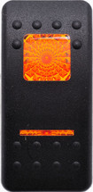 VVAFC00-000 Carling Contura 2 Hard Black Actuator, 1 amber bar lens, 1 amber square lens