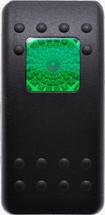 VVAKC00-000 Carling Contura 2 Hard Black Actuator, 1 green square lens