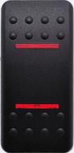 VVANC00-000 Carling Contura 2 Hard Black Actuator, 2 red bar lens