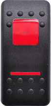 VVASC00-000 Carling Contura 2 Hard Black Actuator, 1 red bar lens, 1 red square lens