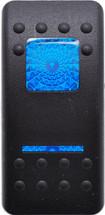 VVAYC00-000 Carling Contura 2 Hard Black Actuator, 1 blue bar lens, 1 blue square lens