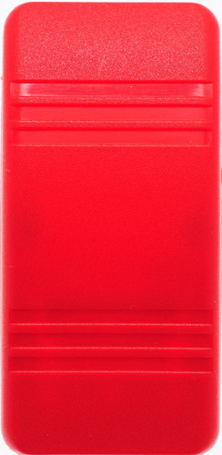 Carling rocker switch actuator, red with no lens, Contura series