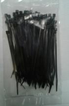 Self Locking Nylon Miniature Cable Ties. Black