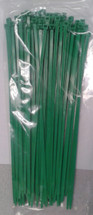 "Self Locking Standard 11.25"" Green Nylon Cable Tie"