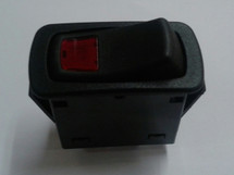 Carling L Series Rocker switch, special, on-on, 12 volt dependent super bright red led, black actuator with red lens