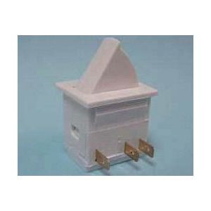Push Button Switch, Square, white, momentary, normally open and normally closed, EMB 604-9036