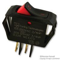 Mini rocker switch, Carling, single pole, on off, I-O legend, RSCA201-VB-B-9-V