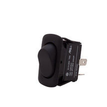 Euro style rocker switch, momentary on off on, water proof, dust proof to IP56, quick connect terminals
