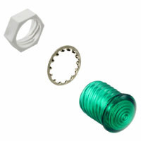 VCC round led lens, green, 5 mm, lens CMC 441 GTP