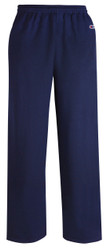 Navy Front P800 Powerblend Eco Fleece Open Bottom Pant With Pockets