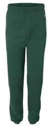 Dark Green Front Champion P900 Powerblend Eco Fleece Closed Bottom Pant | Athleticwear.ca