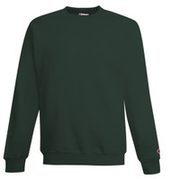 Dark Green Front Champion S690 Youth Powerblend Eco Fleece Crew | Athleticwear.ca