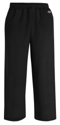 Black Front P890 Youth Powerblend Eco Fleece Open Bottom Pant With Pockets