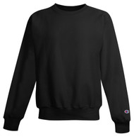 Black Front Champion S149 Reverse Weave Fleece Crew | Athleticwear.ca