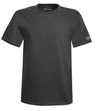 Charcoal Heather Front T425 Short Sleeve Cotton Tee | Athleticwear.ca