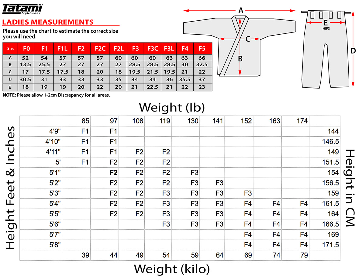 Tatami Shoes Size Chart