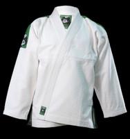 Inverted Gear Panda Gold Weave White Gi  @ www.thejiujitsushop.com